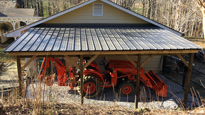 Building a Tractor Shed for MyKubota