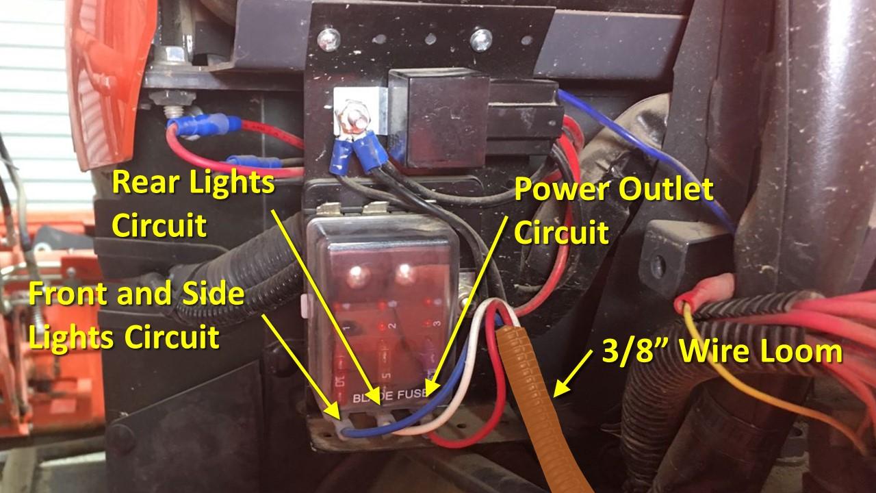 kubota tractor mod: adding a fuse box – diy my way  diy my way