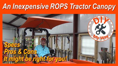 Inexpensive ROPS Tractor Canopy: Snowco FemcoRU-50