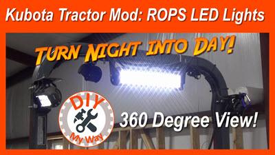 Kubota Tractor Mod: ROPS LEDLights