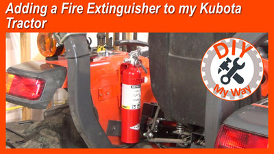 Adding a Fire Extinguisher to my Kubota Tractor